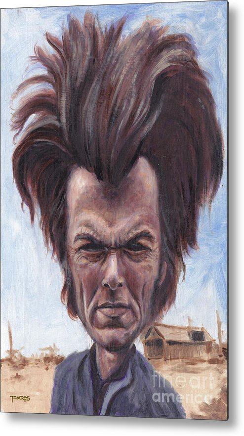 Clint Metal Print featuring the painting Dirty Hairy by Mark Tavares