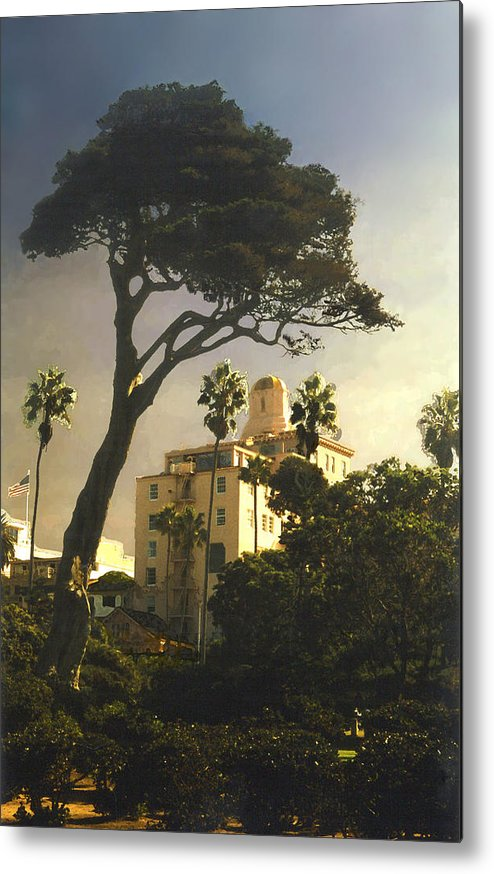 Landscape Metal Print featuring the photograph Hotel California- La Jolla by Steve Karol