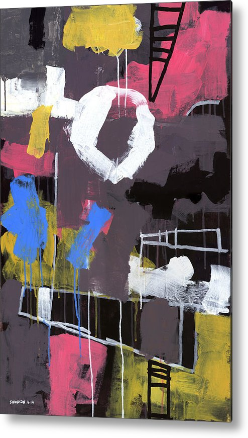 Abstract Metal Print featuring the painting Little Lulu At The Circus by Douglas Simonson