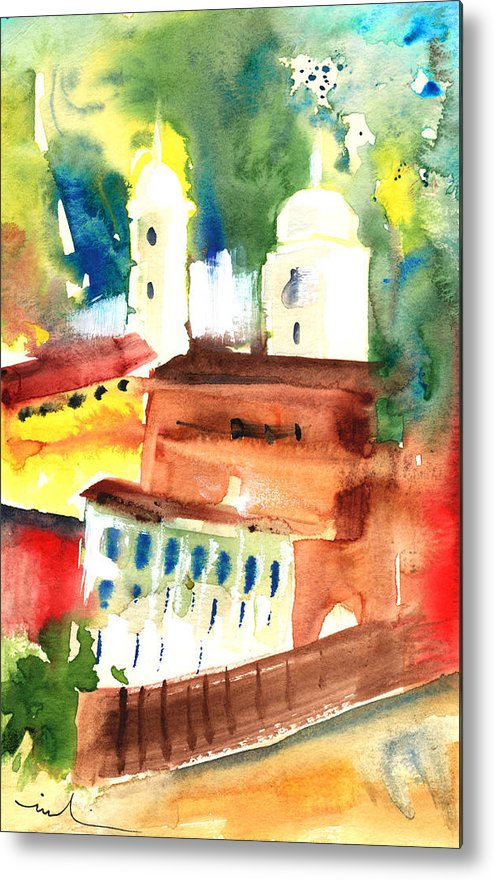 Italy Metal Print featuring the painting Santa Margherita In Italy 13 by Miki De Goodaboom