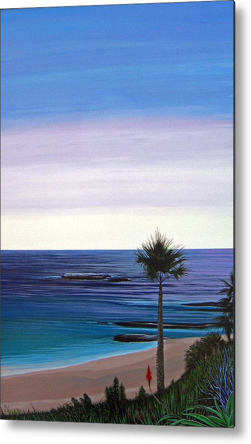 Malibu Beach Metal Print featuring the painting Summer Samba by Hunter Jay