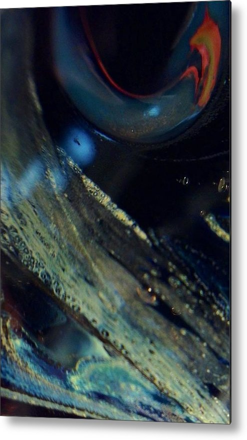 Glass Metal Print featuring the photograph Watchful by Gaby Tench
