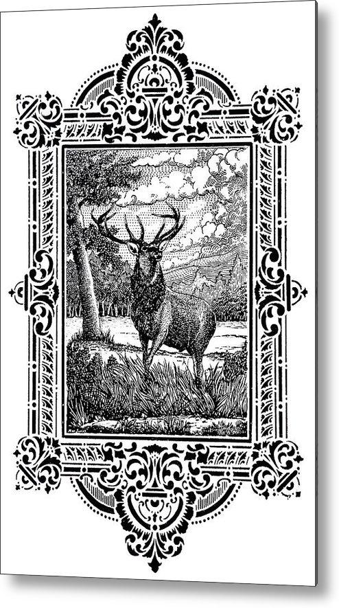 Elk Metal Print featuring the digital art Elk From Glass by Howard Belz