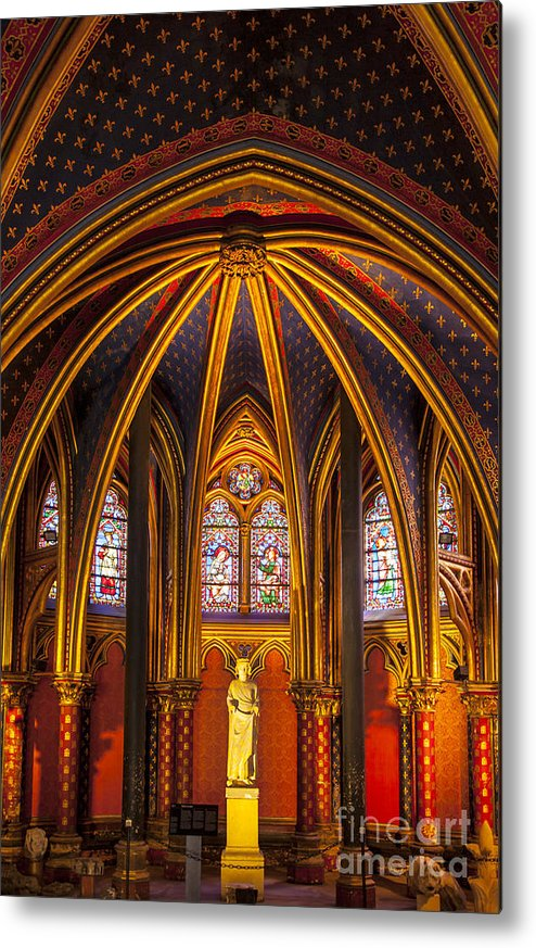 Architectural Metal Print featuring the photograph Sainte Chapelle by Brian Jannsen