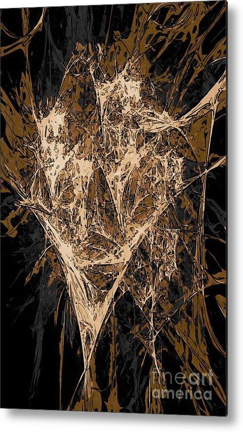 Graphics Metal Print featuring the digital art Abs 0287 by Marek Lutek