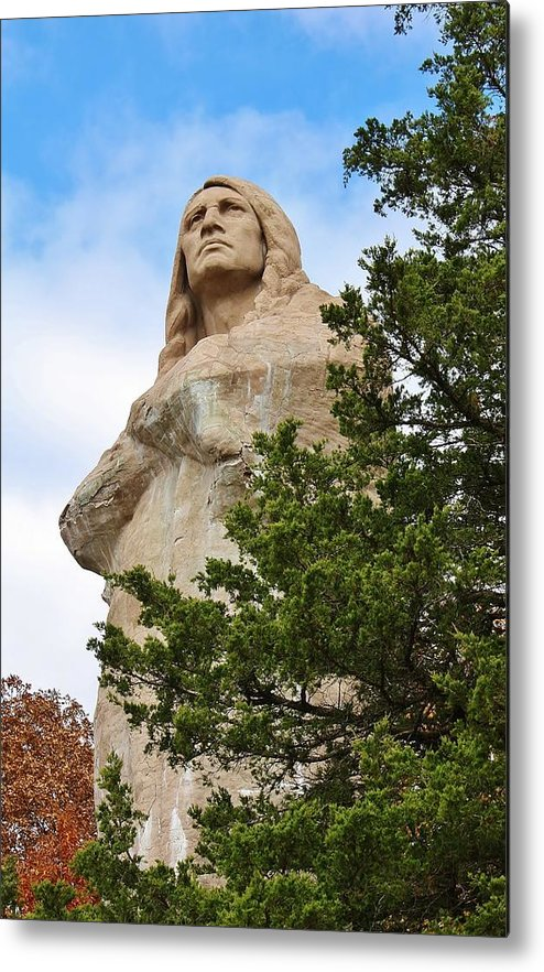 Statue Metal Print featuring the photograph Chief Blackhawk Statue by Bruce Bley