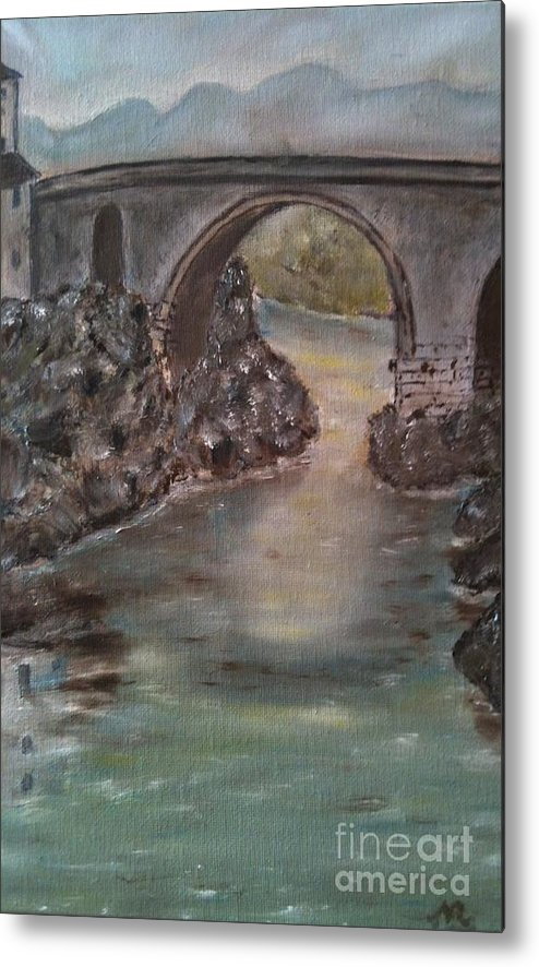 Landscape Metal Print featuring the painting Ivrea by Nicla Rossini