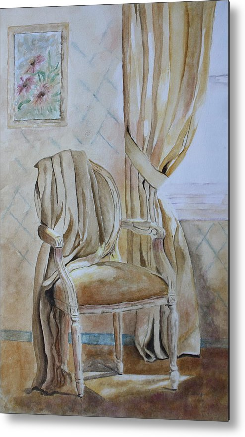 Interior Still Life Metal Print featuring the painting Sunlit Afternoon by Patsy Sharpe