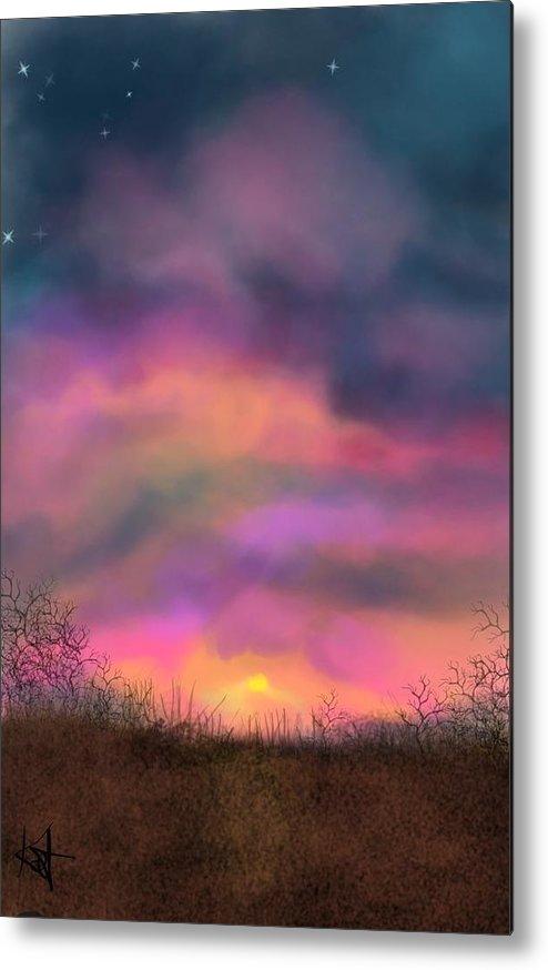 Sunsets Metal Print featuring the digital art Sunset by Kathleen Hromada