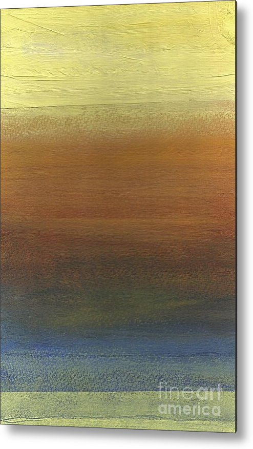 Abstract Metal Print featuring the painting Across The Water by David Weigham