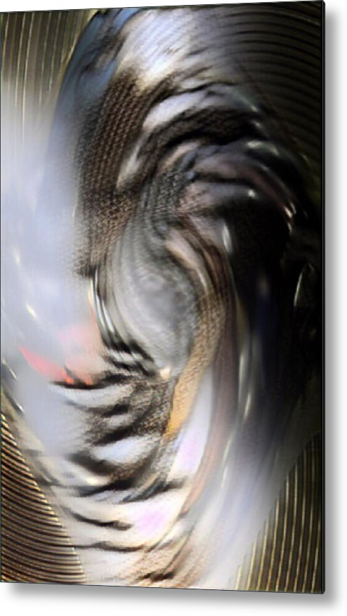 Abstract Metal Print featuring the digital art Bamaged by Marcia Kaye Rogers
