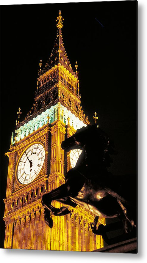 Clock Metal Print featuring the photograph Big Ben In London by Carl Purcell