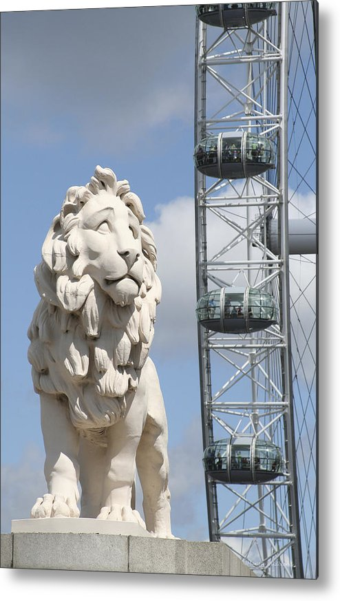 Lion Metal Print featuring the photograph Britannia Lion by Margie Wildblood