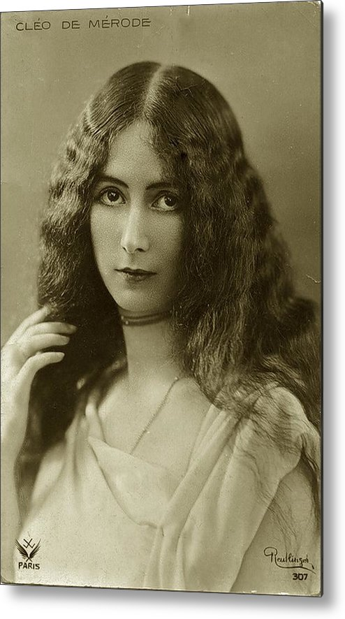 Cleo Metal Print featuring the photograph Cleo De Merode by Unknown