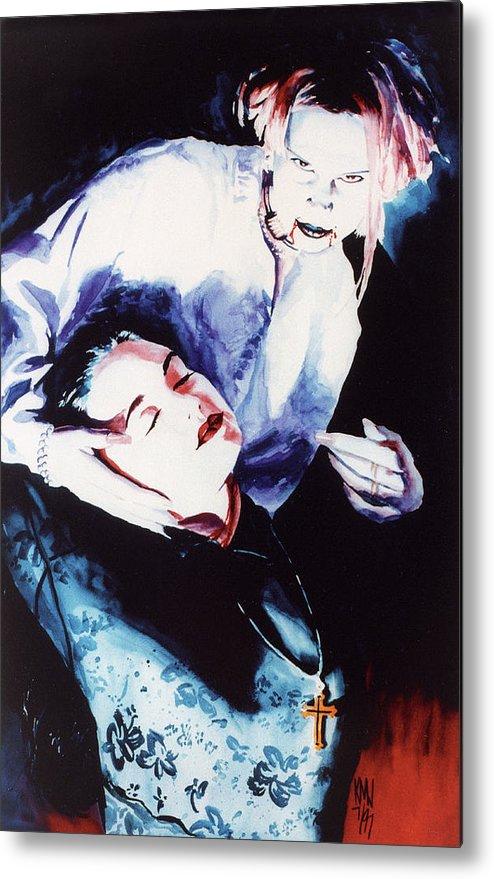 Vampires Metal Print featuring the painting First Taste by Ken Meyer