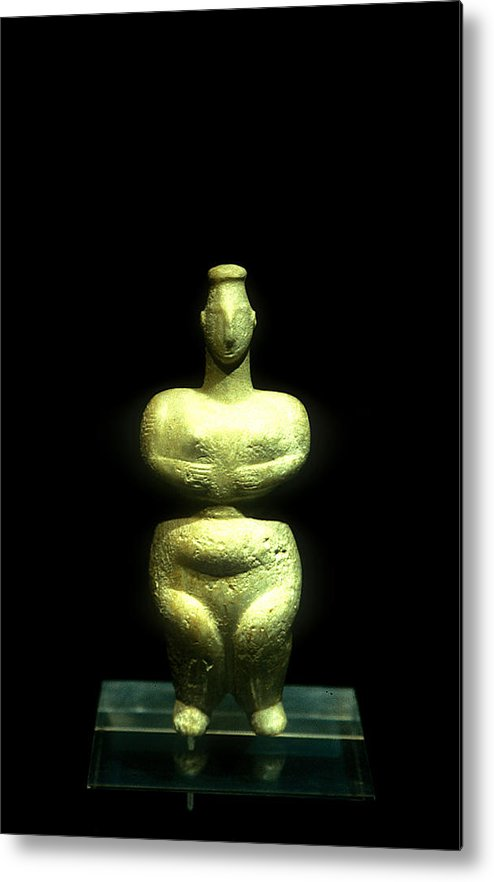Neolithic Figurine Metal Print featuring the photograph Mother Earth Goddess by Andonis Katanos