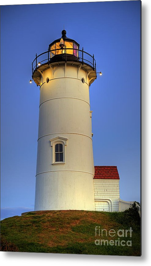 Cape Cod Metal Print featuring the photograph Nobska Point Lighthouse by John Greim