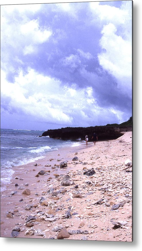 Okinawa Metal Print featuring the photograph Okinawa Beach 15 by Curtis J Neeley Jr
