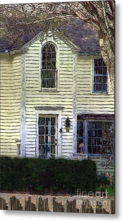 House Metal Print featuring the painting Our Town's Witch House by RC DeWinter