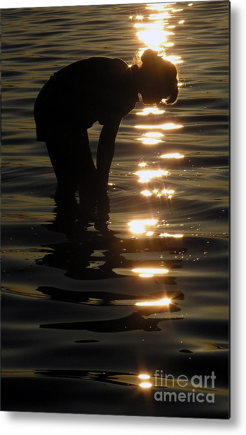 Sunset Metal Print featuring the photograph Searching Through The Sparkles by Scott Heister