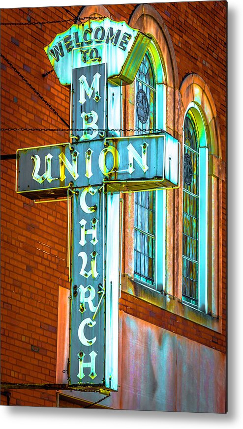 Metal Print featuring the photograph St Luke Church Of God In Christ Dsc2907 by Raymond Kunst