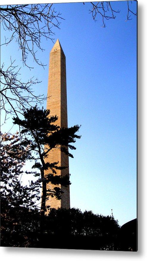 Washington Metal Print featuring the photograph Washington Monument At Dusk by Douglas Barnett