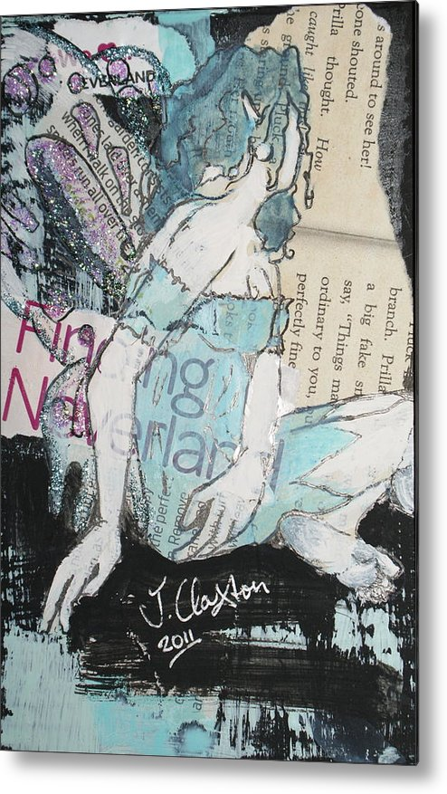 Fairies Metal Print featuring the mixed media We Love Neverland by Joanne Claxton
