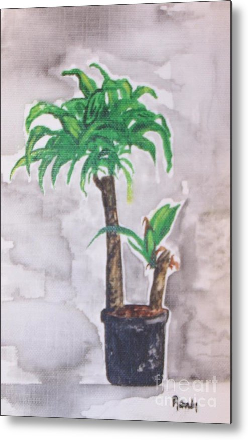 Yucca Metal Print featuring the painting Yucca by Randy Edwards