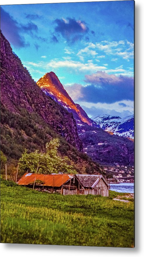 Steve Harrington Metal Print featuring the photograph Evening On The Fjord by Steve Harrington