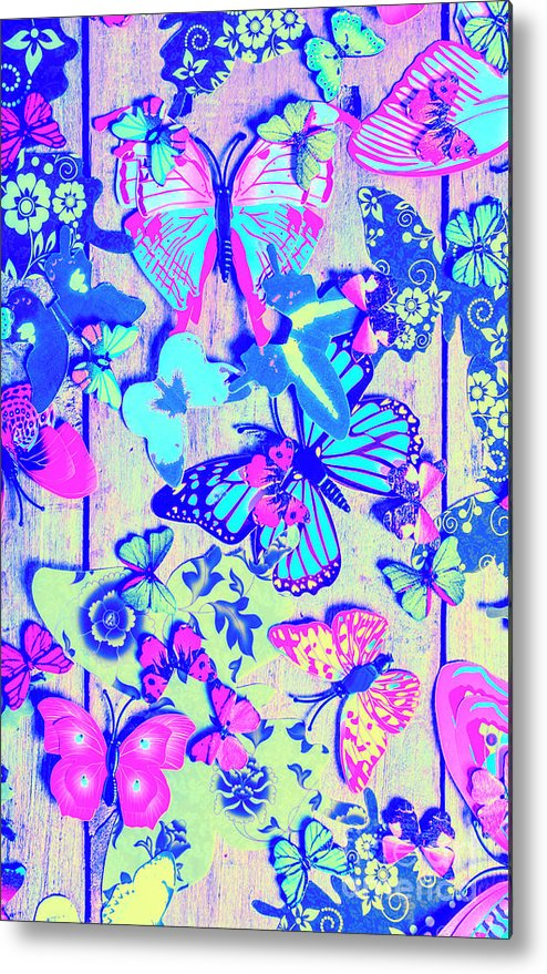 Pastel Metal Print featuring the photograph Pastel Wings And Button Butterflies by Jorgo Photography - Wall Art Gallery