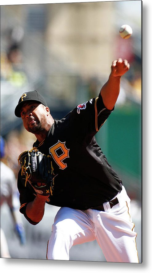 Professional Sport Metal Print featuring the photograph Francisco Liriano by Justin K. Aller