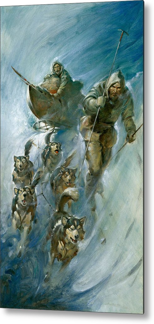 Nansen Metal Print featuring the painting Nansen Conqueror Of The Arctic Ice by James Edwin McConnell