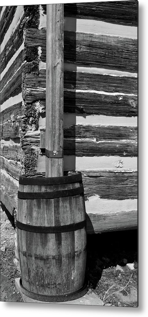 Lawrence Metal Print featuring the photograph Wooden Water Barrel by Douglas Barnett