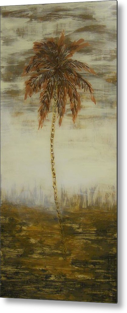 Palm Trees Metal Print featuring the painting Southern Palms 2 by Eric Rabbers