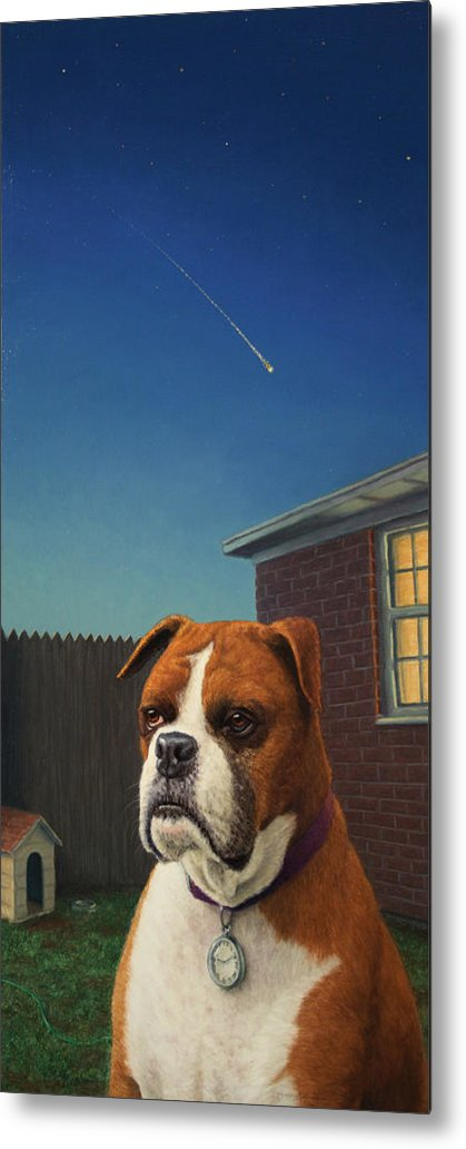 Watchdog Metal Print featuring the painting Watchdog by James W Johnson