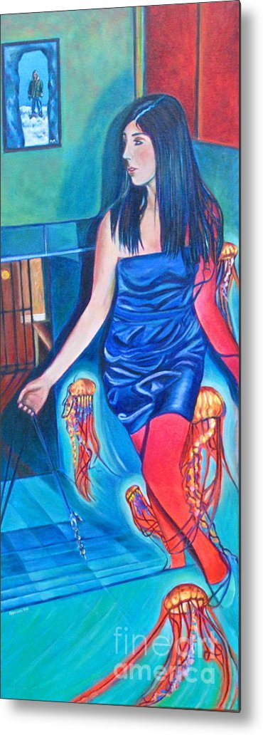 Figurative Painting Metal Print featuring the painting Sting-300 by Mirinda Reynolds