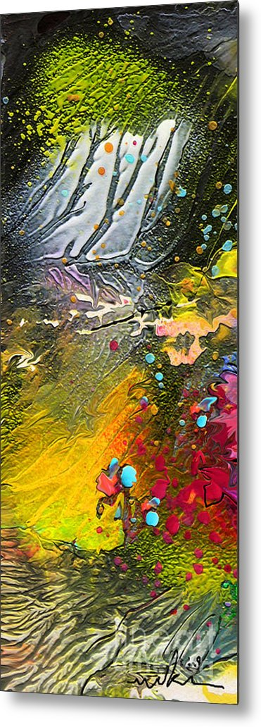 Miki Metal Print featuring the painting First Light by Miki De Goodaboom