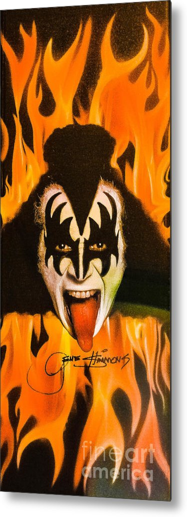 Gene Simmons Metal Print featuring the photograph Kiss The Demon by Gary Keesler
