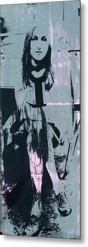 Gray Metal Print featuring the mixed media Charcoal by Shay Culligan