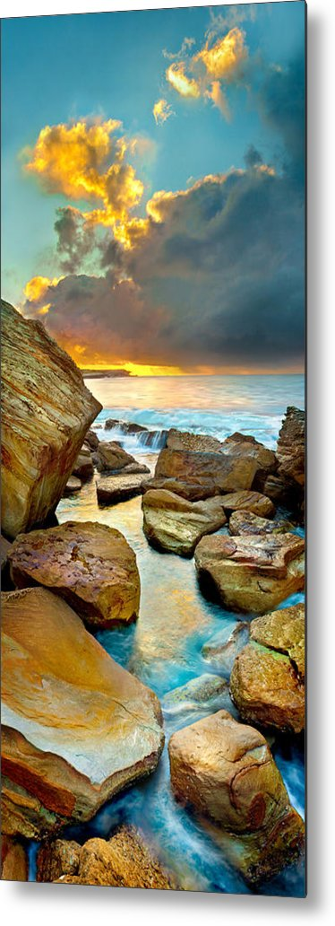 Landscape Metal Print featuring the photograph Fire In The Sky by Az Jackson
