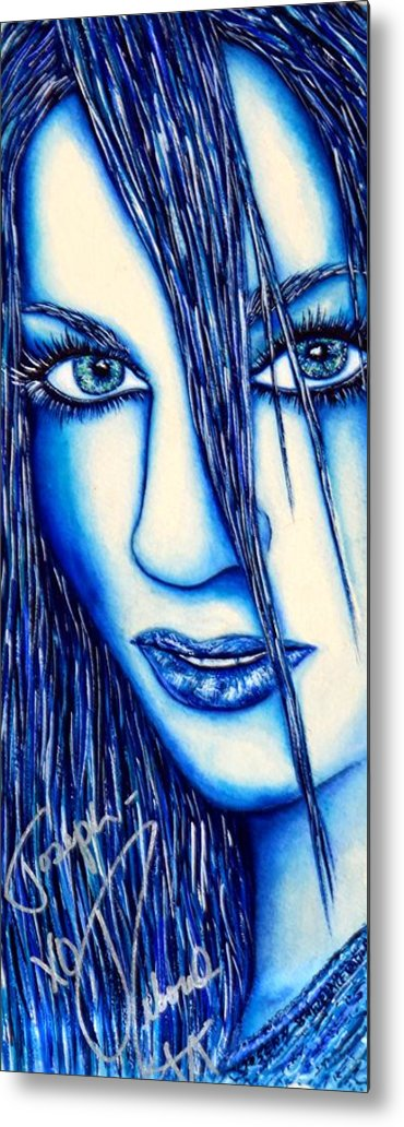 80's Metal Print featuring the mixed media Guess U Like Me In Blue by Joseph Lawrence Vasile
