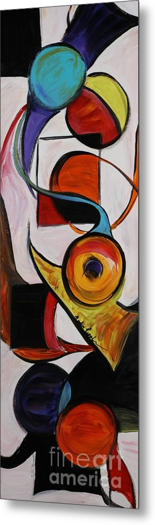 Shapes Metal Print featuring the painting Relationships by Nadine Rippelmeyer
