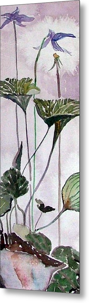 Orchid Metal Print featuring the painting Wild Orchid by Mindy Newman