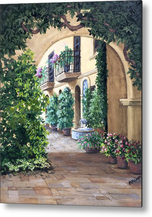 Archway Metal Print featuring the painting Sedona Archway by Mary Palmer