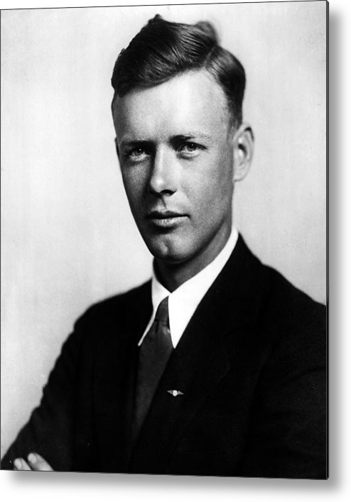 classic Metal Print featuring the photograph Charles Lindbergh by Retro Images Archive