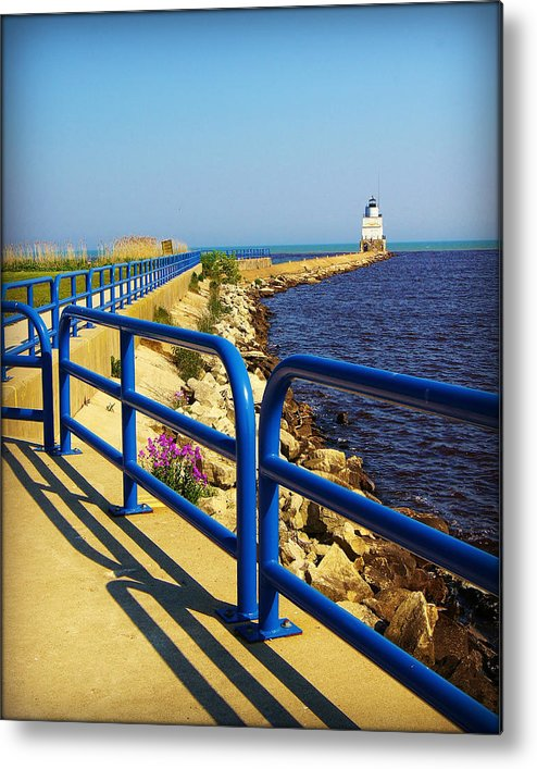 Collections By Carol Metal Print featuring the photograph Manitowoc Breakwater Lighthouse by Carol Toepke