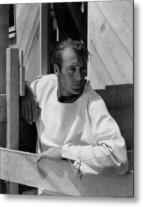 Outdoors Metal Print featuring the photograph Portrait Of Gary Cooper by George Hoyningen-Huene
