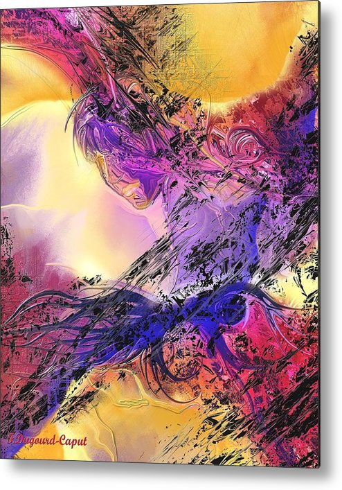 Abstract Metal Print featuring the digital art Presence by Francoise Dugourd-Caput