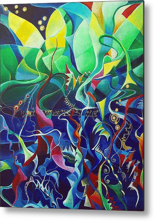 Darius Milhaud Metal Print featuring the painting the dreams of Jacob by Wolfgang Schweizer