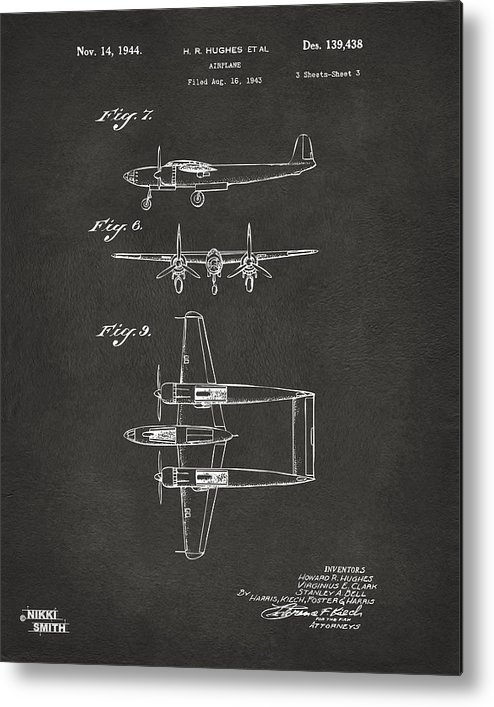 Aviation Howard Hughes Airplane 1944 Patent Print Ready To be Framed!